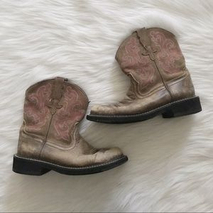 ARIAT Fatbaby Cowgirl Western Pink Stitching Boot